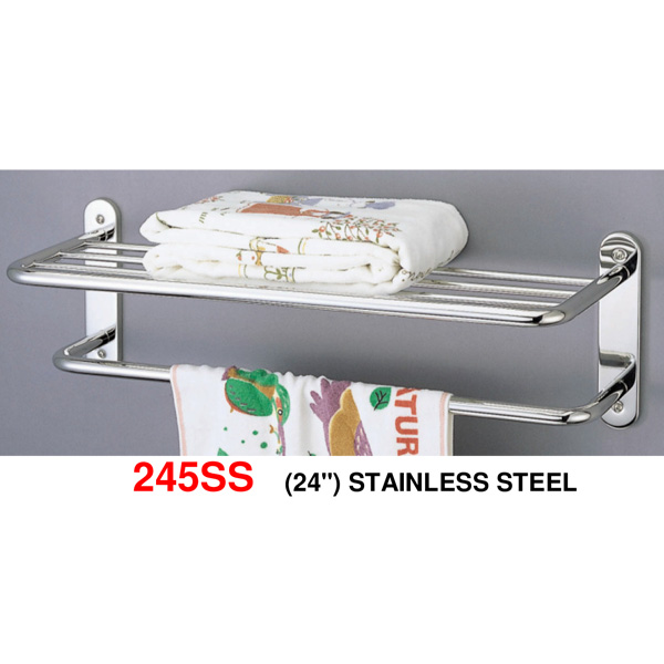 245SS-24-inch-Stainless-steel-towel-shelf