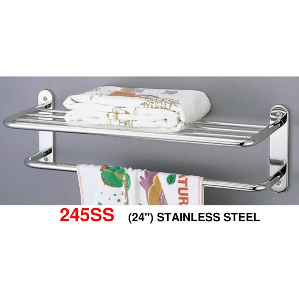 245SS-24-inch-Stainless-steel-towel-shelf