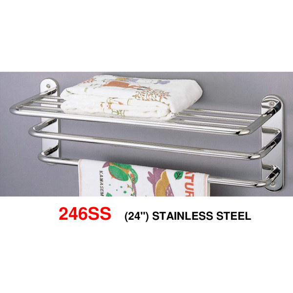 246SS-24-inch-Stainless-steel-towel-shelf