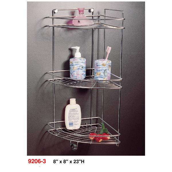 9206-3-Stainless-steel-corner-rack-8-inch