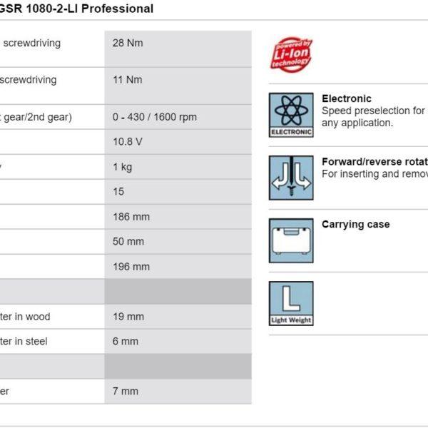 bosch gsr 1080 2 li manual