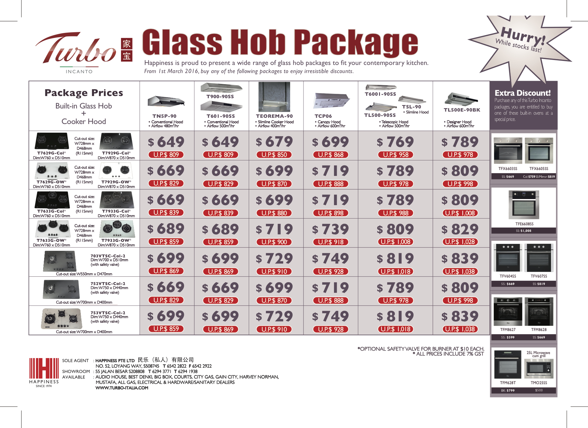 Turbo Italia Glass Hob and Cooker Hood Bundle Promotions
