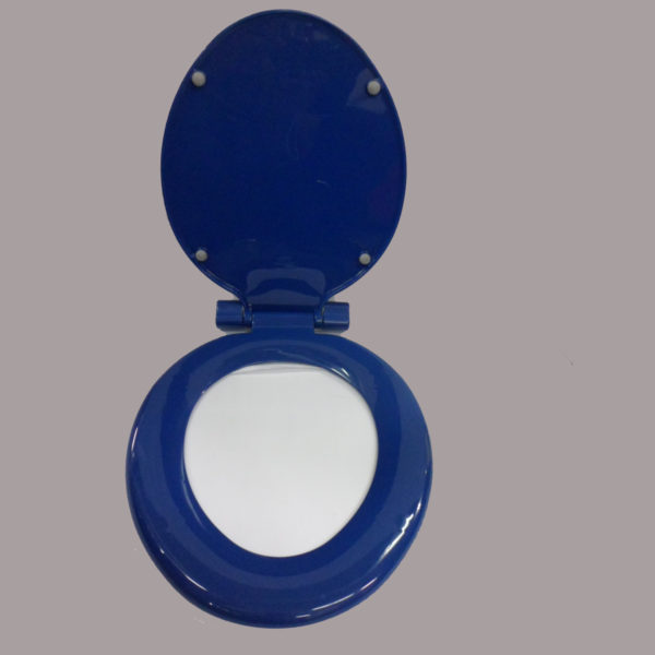 Dark Blue Toilet Seat Royal  TOPSEAT Art Of Acryl Elongated