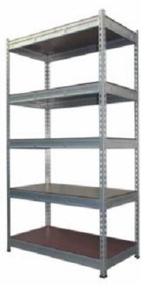 S407 5 shelf boltless pwr coated rack