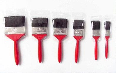 china red paint brush