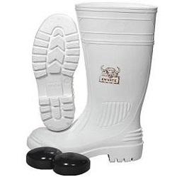 INYATI WHITE PVC BOOTS W/TOE CAP