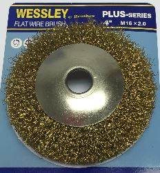 "Wessley® 4"" Flat Wire Brush"