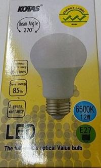 KOTAS E27 LED DAY LIGHT BULB, 6500K