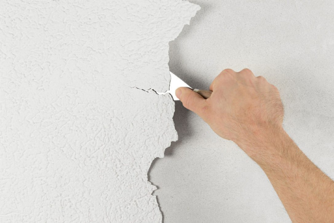 How To Repair Crack Holes On Wall And Apply Wall Putty