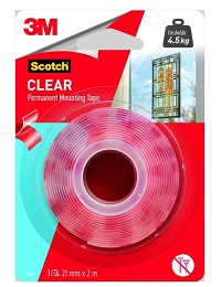 3M 76272 4010 Scotch Permanent Clear Mounting Tape.1 250x250