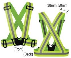 elastic safety vest w clip-VEST-EG38
