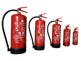 Fire extinguisher various sizes