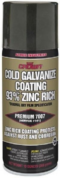 7007 Crown Aerosol Zinc Rich Cold Galvanizing Compound