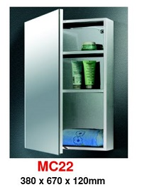 MC-22 Stainless Steel Cabinet mirror 200x250