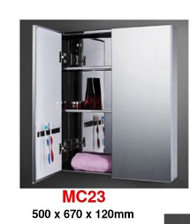 MC-23 Stainless Steel Cabinet mirror.1 250x250