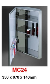 MC-24 Stainless Steel Cabinet mirror 200x320