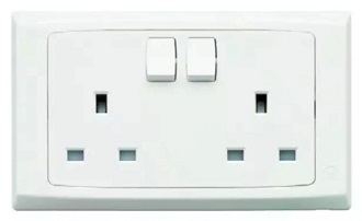S2747 WHI 2G 13A Switched Socket outlet 250x250